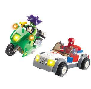 10pcs/lot children gift.Superman spiders series Building Block Sets.kids diy Plastic toys Enlighten building bricks toy yz1076(China (Mainland))