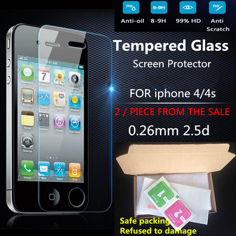 2016 film 0 26mm on the for iPhone 4s Tempered Glass font b Screen b font