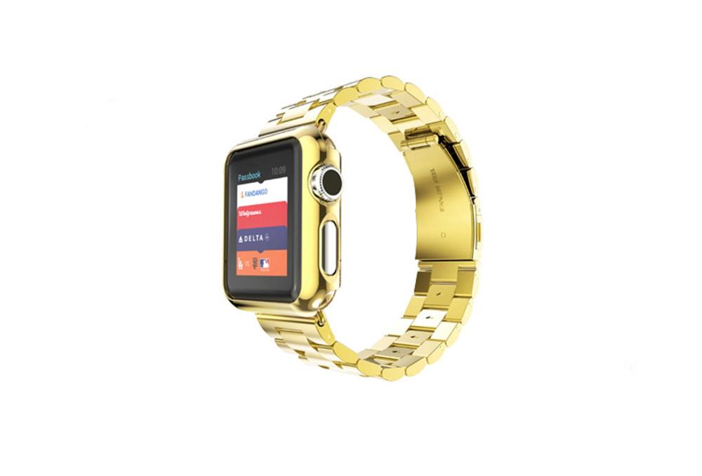 Новый Нержавеющей Стали 316L Ремешок полосы Классический Пряжки Ремешки для Apple Часы с Защитный Чехол