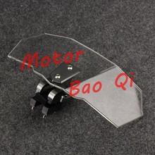 Trasporto libero del motociclo di alluminio di cnc universale parabrezza flusso d'aria regolabile parabrezza per bmw ktm aprilia ducati bianco(China (Mainland))