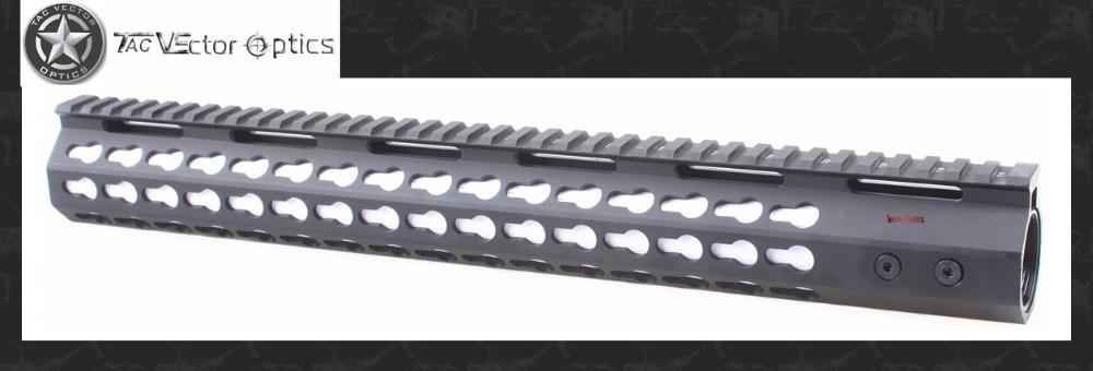 Vector Optics Slim KeyMod 15'' Free Float Handguard Mount with Steel Barrel Nut & Detachable Rail fit Scope Laser Flashlight(China (Mainland))
