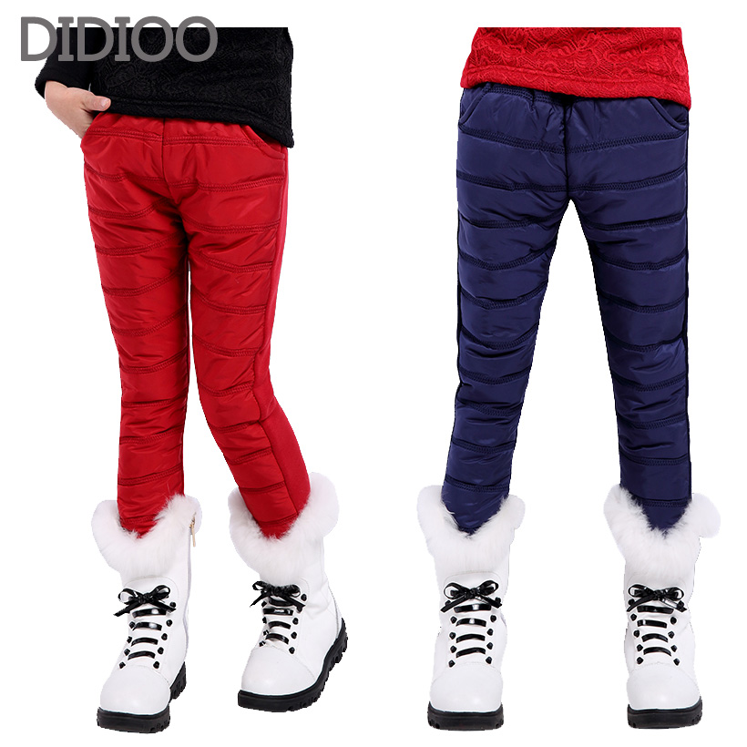 Girl Winter Pants Casual Sports Trousers Child Long Thicken Warm Cotton Pants Girls Leggings Teenage Children Clothing For Girl(China (Mainland))