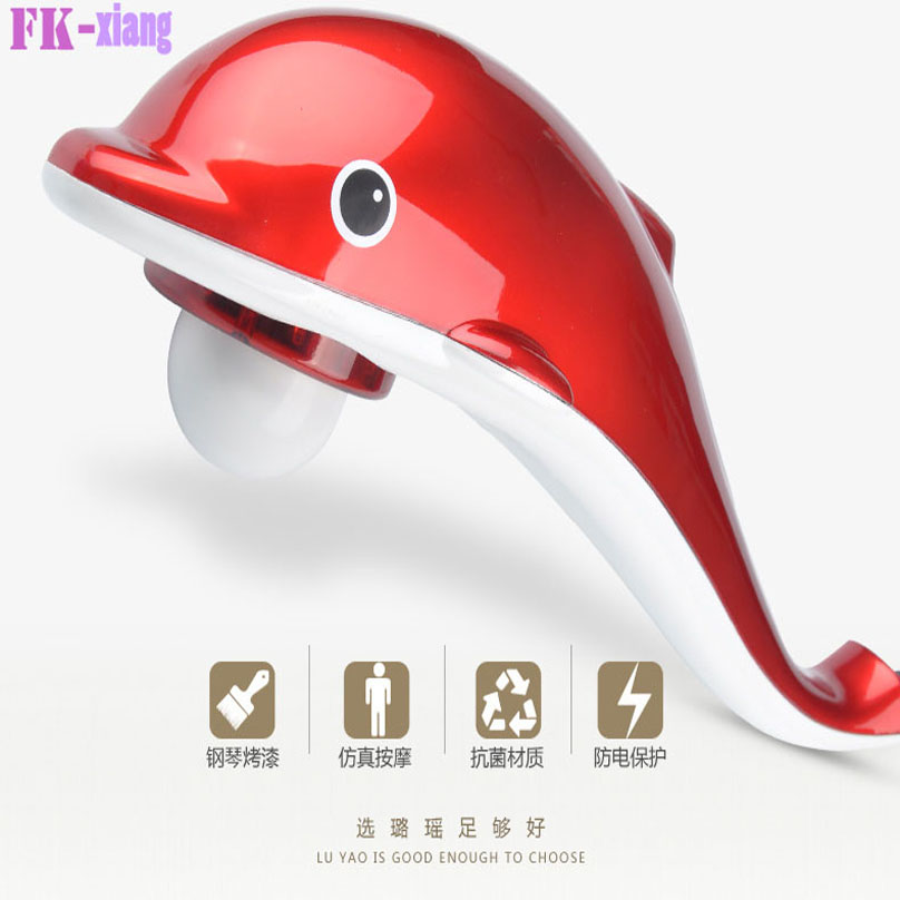 Mechanical Fat Burner Dolphin Massage Stick Vibrating Kneading Shoulder Back Neck Massager Infrared Shiatsu Health Care 606(China (Mainland))