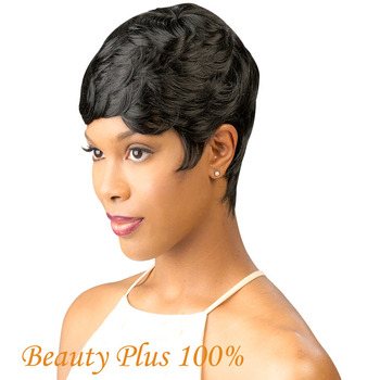 Best Seller Vogue Wig Short Black Female Rihanna Wavy Celebrity Hairstyle Fashion & Charming Style Synthetic Cheap Hair Wigs