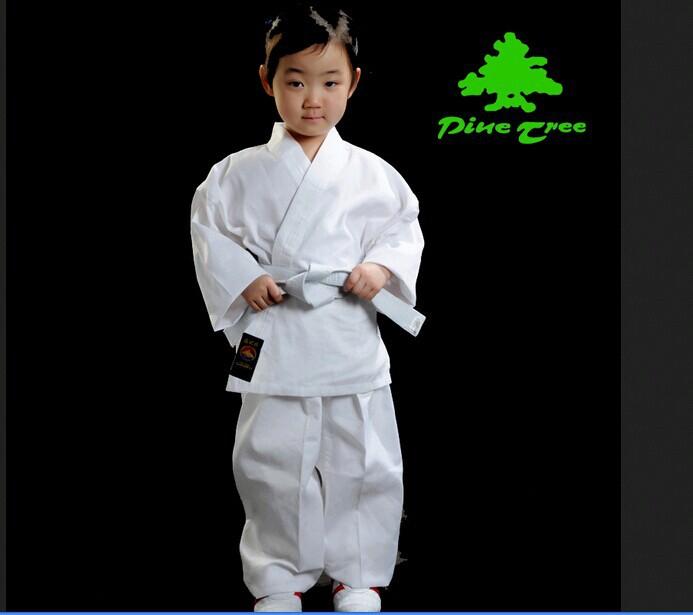 produto 100% cotton fiber white slanting stripe child adult karate suit clothes uniform