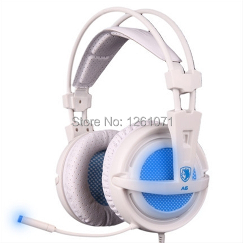 Original New Arrival Gaming Headphone Headset Sades A6 Comfort Wearing Ultra-light USB 7.1 Surround Sound for DOTA WOW LOL(China (Mainland))