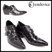Hot! Pointed toe crocodile skin type Men Dress/Wedding shoes, fashion high-heeled leather casual business Shoes, EU38-46(China (Mainland))