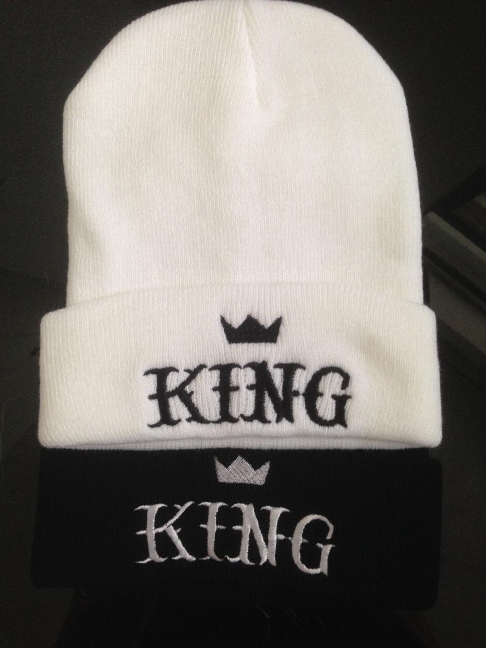 Aliexpress.com Comprar 100% acrílico Unisex Hiphop gorros para el invierno térmica sombreros personalizados DIY gorros rey de beanie fiable proveedores en