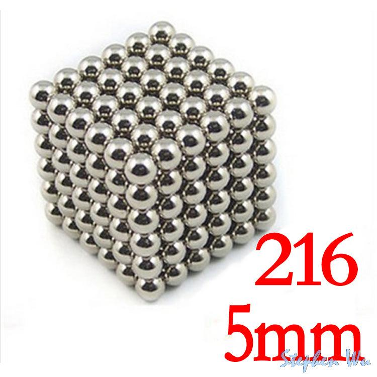 New BuckyBalls Magnetic Ball Cube 216*5mm Diameter NeoCube Funny Magnet Ball Neodymiums Novelty Free Shipping(China (Mainland))
