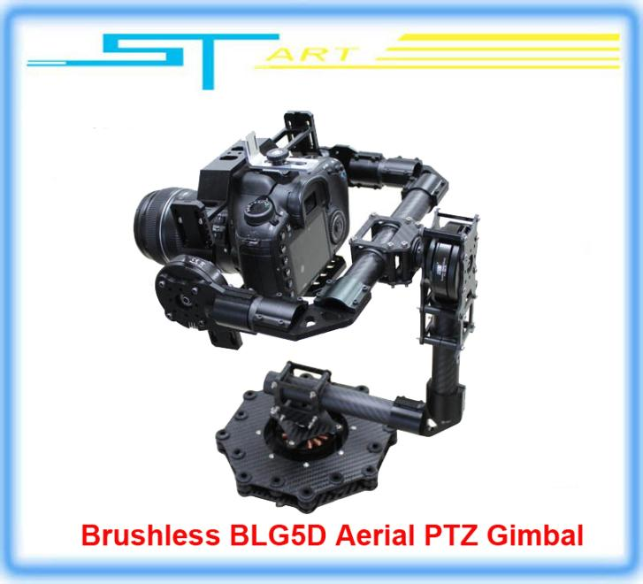 Free shipping 2014 New DYS Brushless BLG5D Aerial PTZ Gimbal with 3 axis AlexMos Controller Motor for DSLR Camera Drop shipping<br><br>Aliexpress