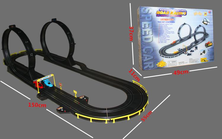 cm de alta velocidad carretera pista s ot rc racing de coches de juguete diy montado elctrico rail juego de carreras de co