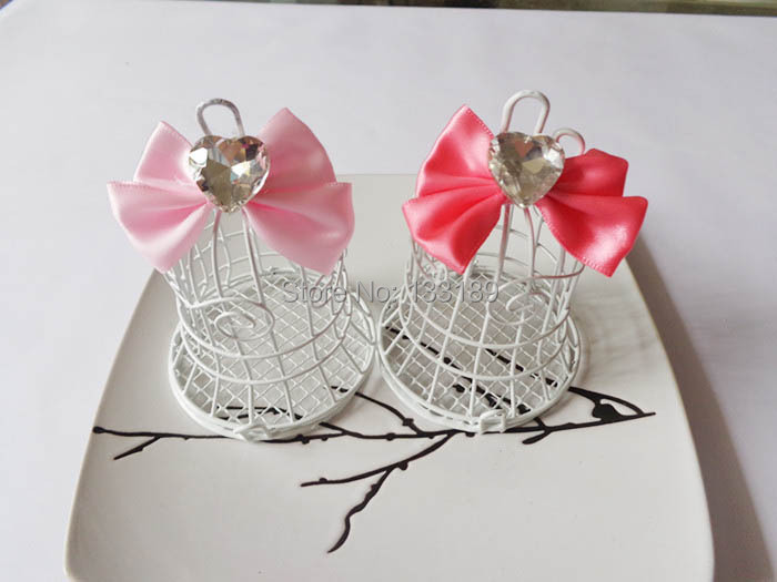 Wholesale 50PCS/LOT Iron birds cage Wedding Favor Box/ Chocolate Candy Box for Festive Event Party Wedding(China (Mainland))