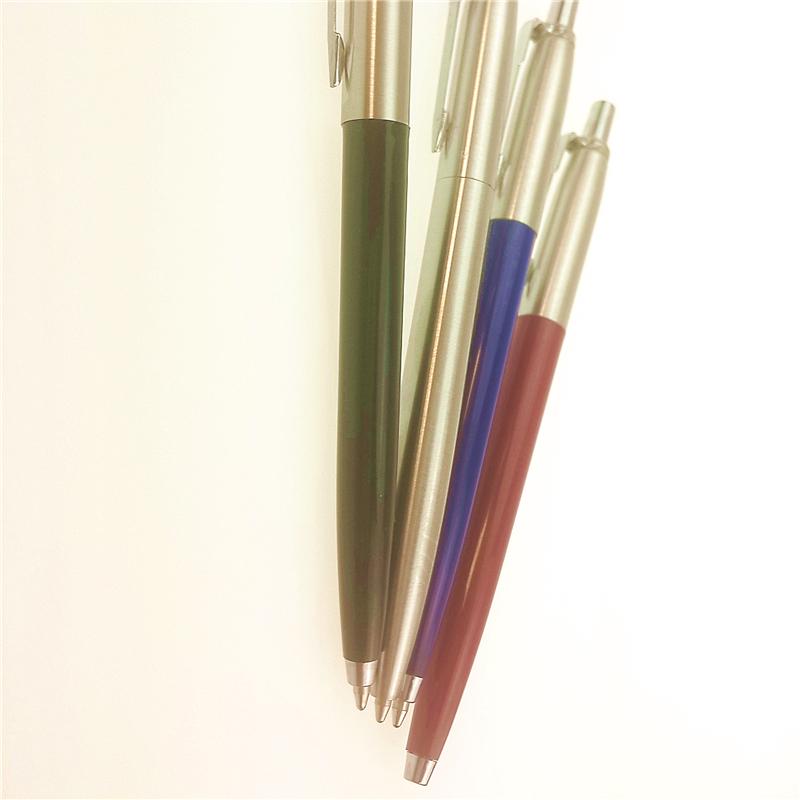 4pcs/lot Parker T wave Series Steel Ball Point Pen Parker Pen Parker Ballpointn Pens Caneta Pens 4 Colors Silver Clip 13*1.3cm<br><br>Aliexpress