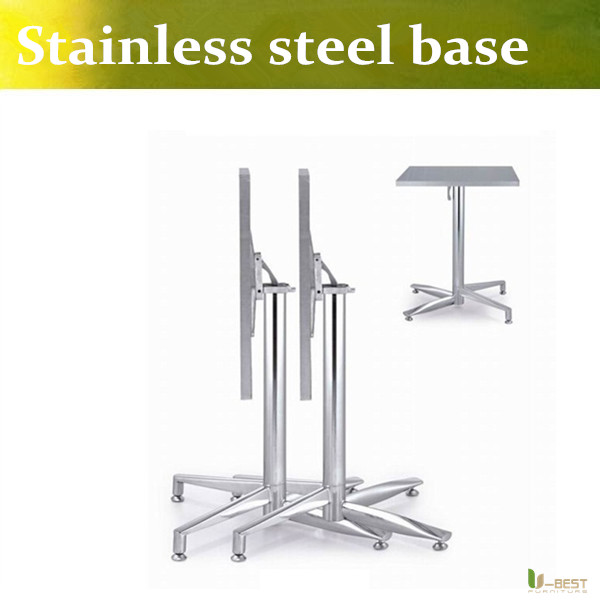 U-BEST The elegant and classy metal table base Coffee shop stainless steel legs folding table base(China (Mainland))