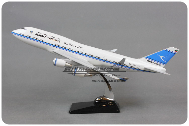47cm Resin Air KUWAIT Airways Boeing B747 400 Airlines Plane Model Airplane Model Toy Collections Decoration Gift(China (Mainland))