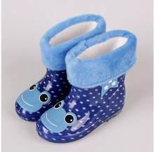 SıCAK çocuk ayakkabıları yağmur çizmeleri İlkbahar Sonbahar Kış Bebek Erkek Kız Kar Botları ayakkabı moda Bebek ayakkabıları çocuk lastik çizmeler(China)