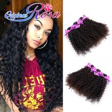 8A grade 4 bundles Rosa hair products Malaysian kinky curly virgin hair malaysian curly hair, malaysian virgin human hair weaves(China (Mainland))