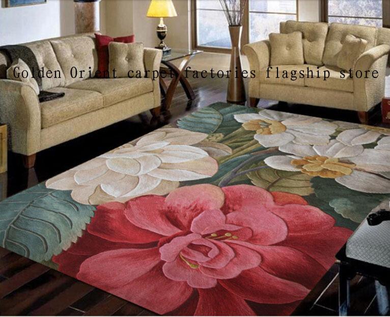 1.4m*2mManual wool carpet New Zealand wool carpet Thickening washed wool carpet to booking024