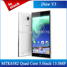 Original Inew V3 PLUS MTK6582  Mtk6592 Smartphone 5.0 inch HD Screen Android 4.4 13MP NFC OTG WCDMA white black phone/Avil(China (Mainland))