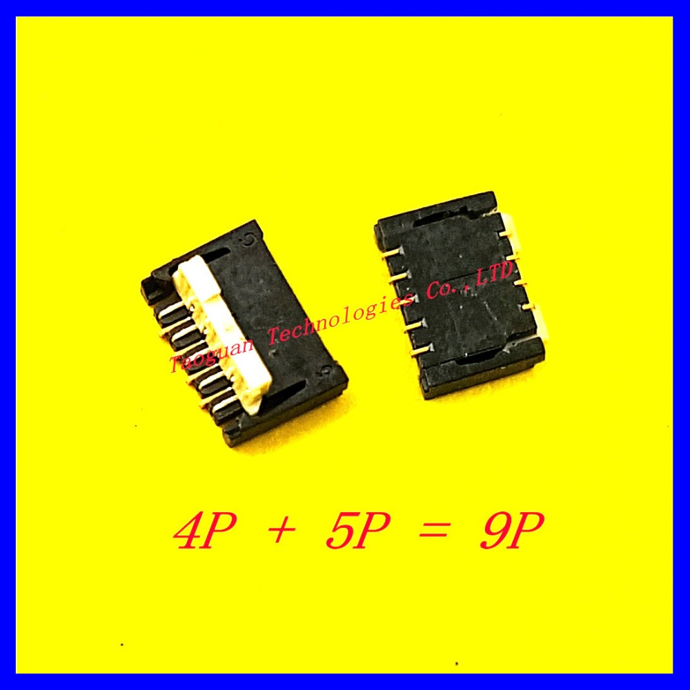 Original 9PIN LCD Display Touch FPC Connector Port Plug on Mainboard for HTC Huawei Lenovo ZTE Jiayu Zopo THL Oppo replacement(China (Mainland))