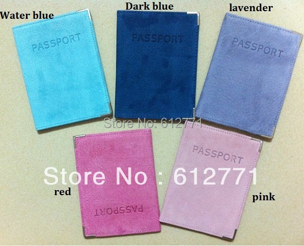 High quality Russia selling Guarantee suede Passport Card bag Wallet Multifunction Tourism travel passport holder Holiday gift(China (Mainland))