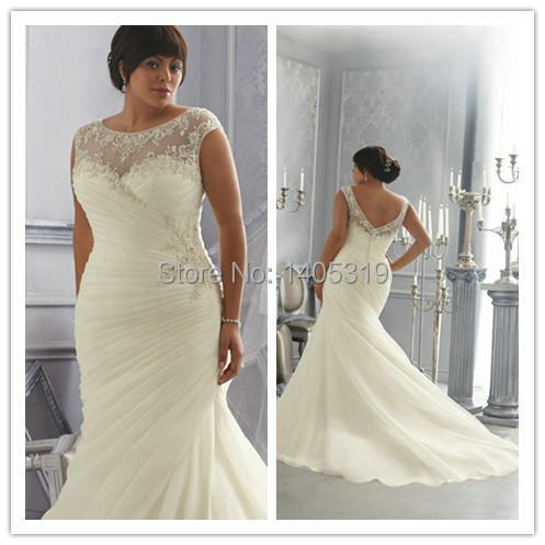 Petite Plus Size Bridal Dresses With Sleeves 26
