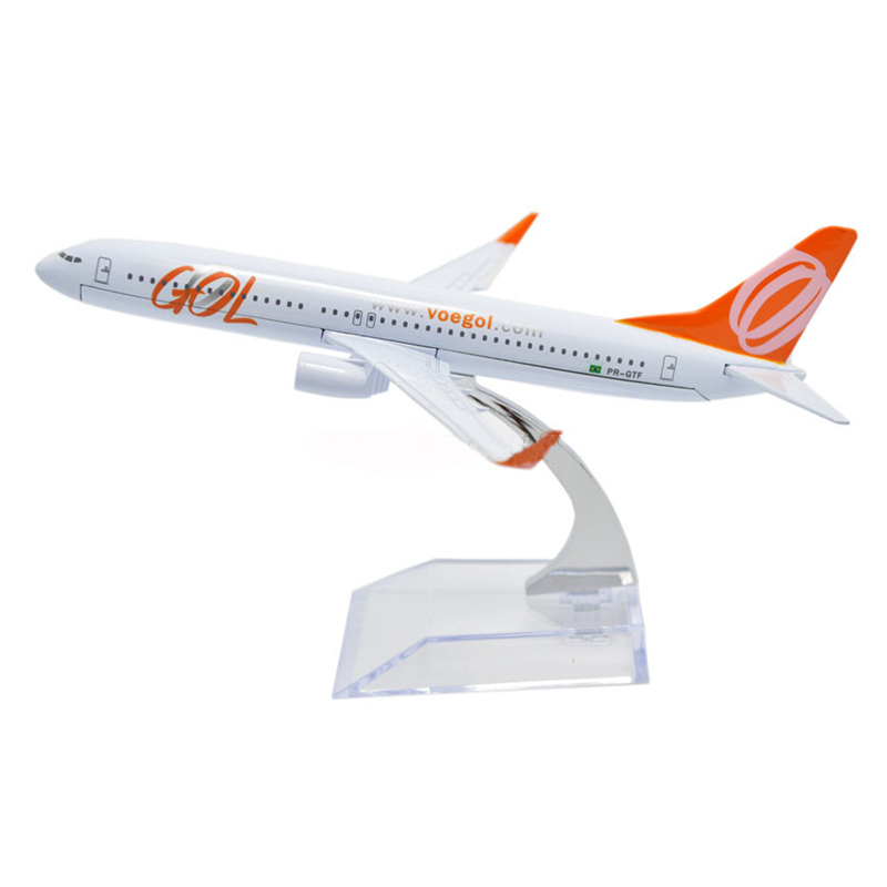 Metal/Alloy Brazil Gol Model Airplane Boeing B737-800 Aircraft 1: 400/16cm Aeroplane Toy Airplane Air Airlines Model Plane,Gift(China (Mainland))