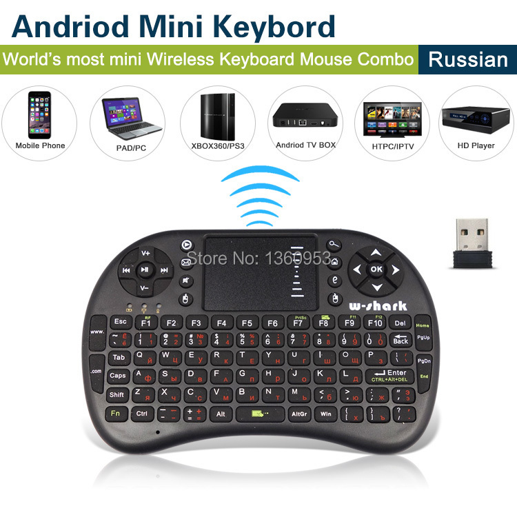 Russian and English teclado Mini Wireless Keyboard & Mouse With Touch Pad Air Mouse Remote Control Auto Touchpad(China (Mainland))