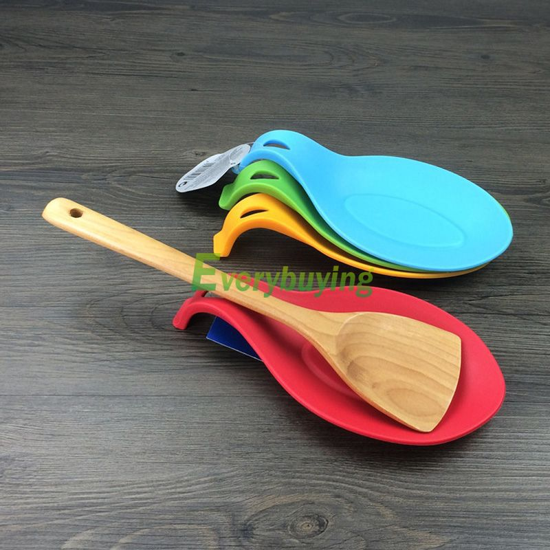 1Pc Silicone Spoon Insulation Mat Placemat Drink Glass Coaster Tray Tool #70976(China (Mainland))