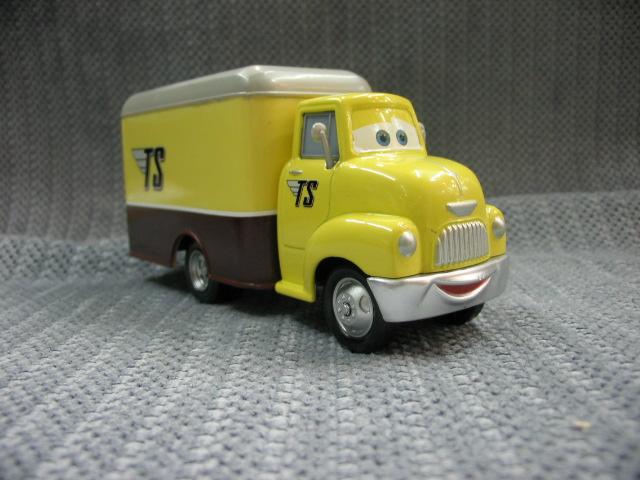CARS alloy car toy TS yellow truck / trailer wholesaleon cheap free shipping(China (Mainland))