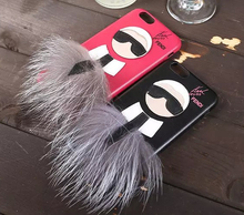 Hot Luxury Fashion Brand Karlito Leather Men's Cell Phone Cases For Apple iPhone 5 6 s plus 6plus Women Karl Mobile Case Cover(China (Mainland))