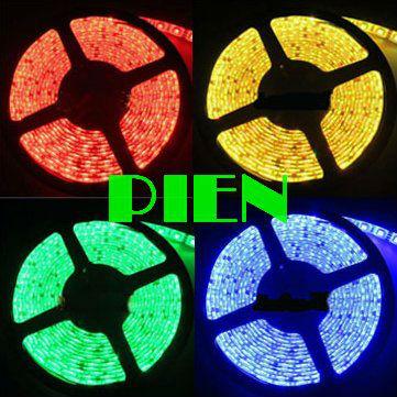 RGB 5050 smd fita tape led strip 5m waterproof tiras luz de cortinas 300 leds ruban 12V warm white blue yellow Free Shipping 5 m(China (Mainland))