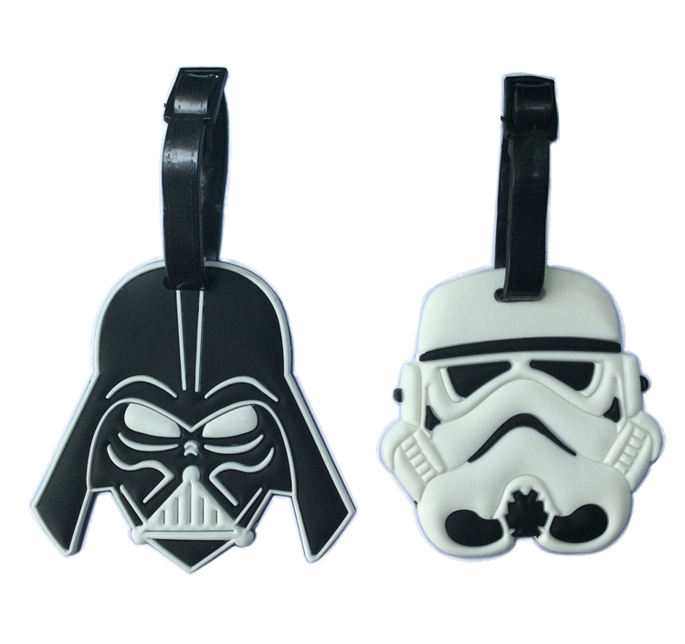 Star Wars Tag Luggage Darth Vader White Soldiers Pvc Cartoon 3D Travel Luggage Tags For Bag<br><br>Aliexpress