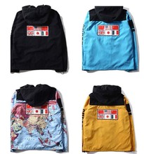 Suprem jacket and coat map Flag Face 3M Reflective Trench Outdoor Sportswear suprem Windbreaker Map Jackets(China (Mainland))