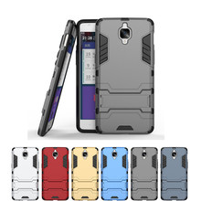 Oneplus 3 Original Case Cover Hard PC + Soft TPU Hybrid 2 1 Armor Cases One Plus Three Protective Back Stands - HSY Technology CO.,Ltd store