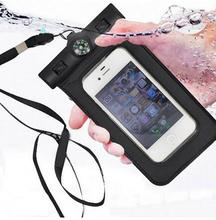 Fashion Mobile Phone Waterproof Bag PVC Cellphone Protector Case Outdoor Swimming Pouch Bag With Compass