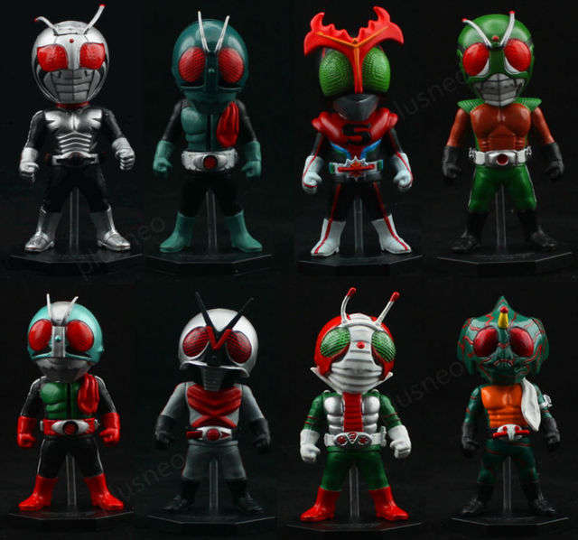 2013 NEW ARRIVAL  WCF Kamen Rider Masked Rider  RX anime toys  8pcs/set action figures  JP Collector's 02 Edition Free shipping