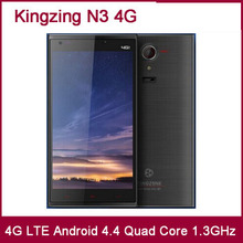 "Original KINGZONE N3 4G LTE Cell Phones MTK6582 +6590 Quad Core 5"" Android 4.4 Corning Gorilla Glass IPS 1280*720 13MP Mobile"