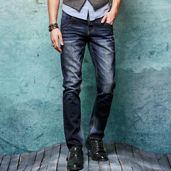 Фотография 2016 New Arrival Fashion Mens Jeans Trousers Slim Casual Straight Men Denim Jean Pants MB16028 Z20