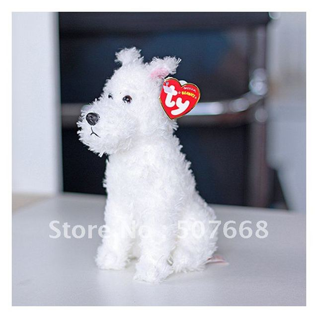 """7.5"""" SNOWY The Adventures of Tintin White Dog SNOWY Plush toy Dogs Figures Dolls New Arrival"""