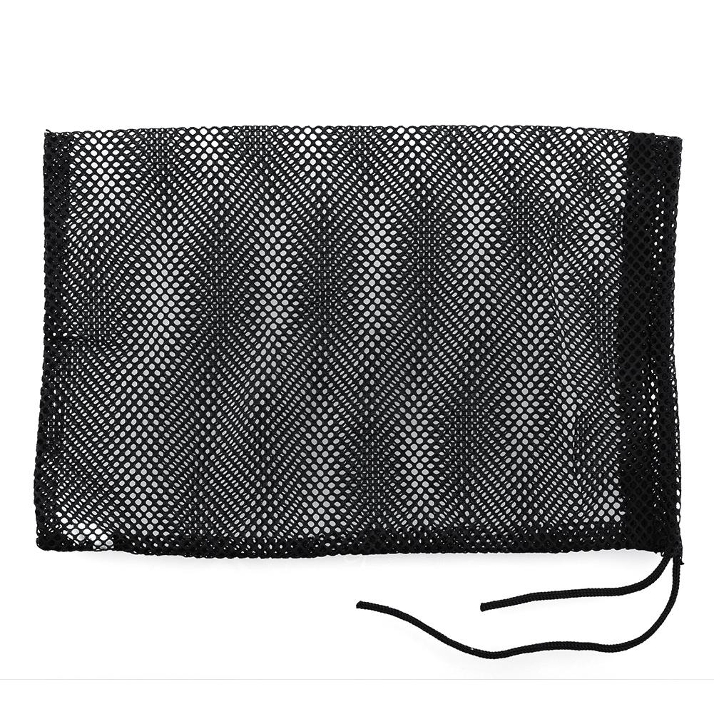 Black Nylon Mesh Nets Bag Pouch Golf Tennis 48 Balls Holder Hold Ball Storage Closure Durable Free shipping(China (Mainland))