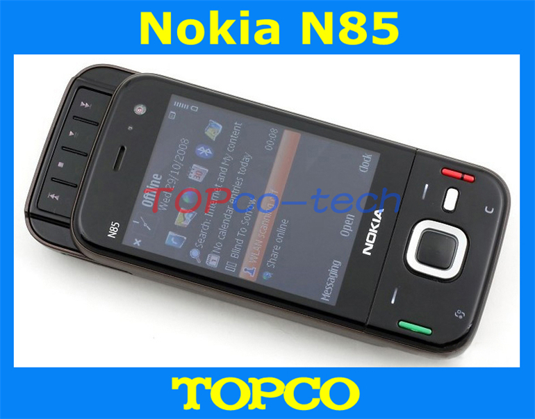 Nokia N85 original unlocked cell phone 3G GSM mobile phone WIFI GPS 5MP Camera Touch-sensitive Navi wheel Free shipping(China (Mainland))