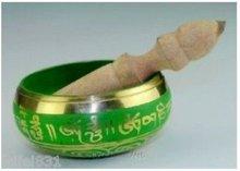 Asian Tibetan Vintage Copper GOLD-plating Singing Bowl free shipping