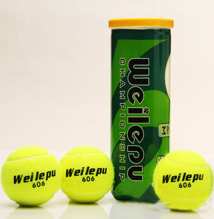 3pcs/pack Natural Rubber + Synthetic Wool Fiber Entry-level Tennis balls for Children playing Dog Training Tennis Ball 606(China (Mainland))