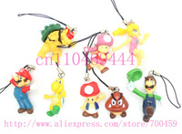 Lot 40 PCS lovely mario  Cell Mobile Phone charms straps  Free Shipping
