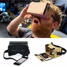 DIY Ultra Clear Google Cardboard VR BOX 2.0 Virtual Reality 3D Glasses for iPhone SmartPhone computer gafas xiaomi mi vr headset(China (Mainland))