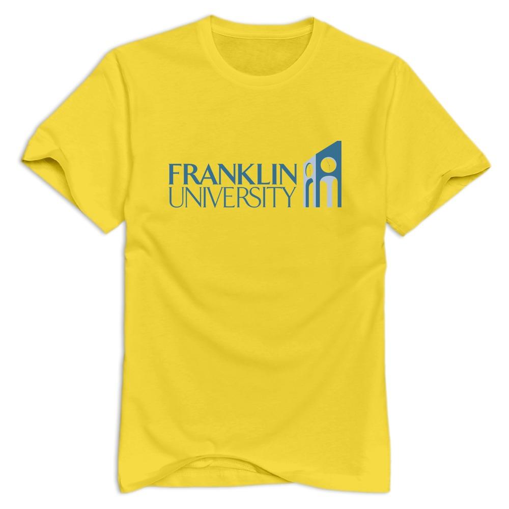 Free shipping franklin university men t shirt custom made for Custom made tee shirts