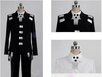 New Soul Eater Death the Kid Cosplay Costume Halloween Cloth Size XS-XXL for AdultОдежда и ак�е��уары<br><br><br>Aliexpress