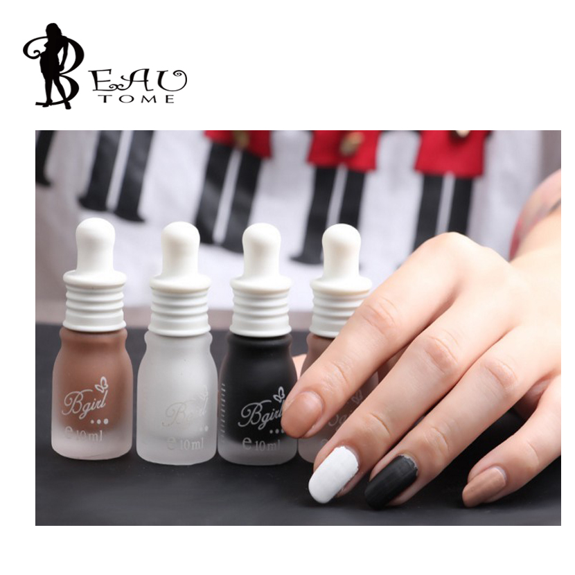 Min.order $10 (mix order) 4pc/Set Feed Bottle Frosted Matte Nail Polish Tasteless Nail Polish Beauty Nail Art Decoration Tools(China (Mainland))