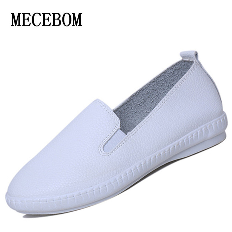 casual flat shoes 2016 solid loafers slip on